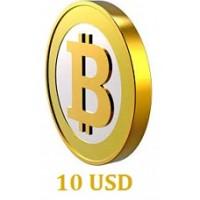 10 USD Bitcoin
