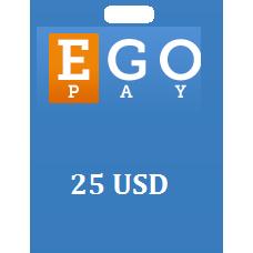 25 USD Egopay