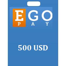 500 USD Egopay