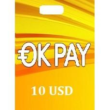 10 USD Okpay