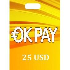 25 USD Okpay