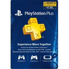 Playstation Plus 3 Month Prepaid Card
