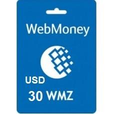 30 USD Webmoney
