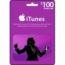 100 USD iTunes Gift Card
