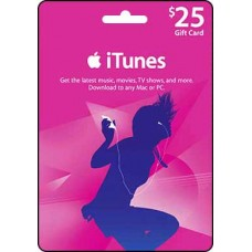 25 USD iTunes Gift Card